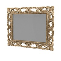 classic wall mirror picture frame carved carving antique baroque luxury